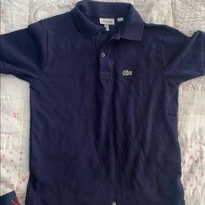 Boys Lacoste polo navy blue size 10